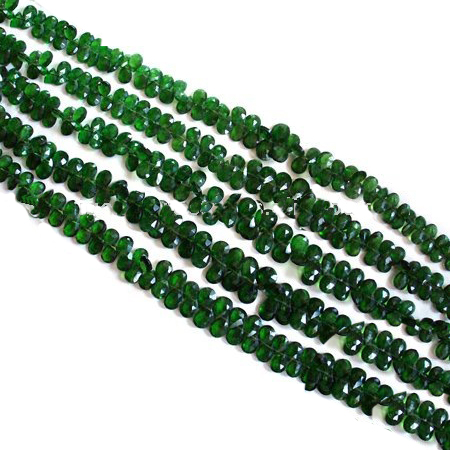 Very Beautiful good quality Chrome Diopside Faceted Pear Beads. Available in all sizes and shapes at very reasonable price.