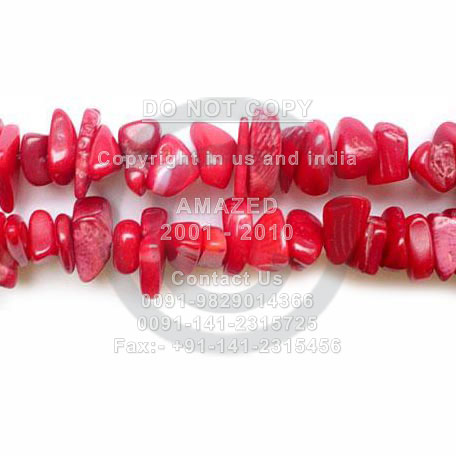 Dyed Coral�-�Chips 36 Inch