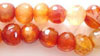 Natural Carnelian Faceted Round Nugget