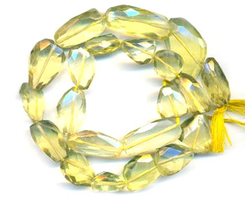 Lemon Topaz Nuggets Faceted Beads