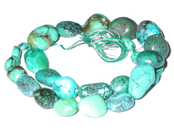 Large Turquoise Nuggets Beads